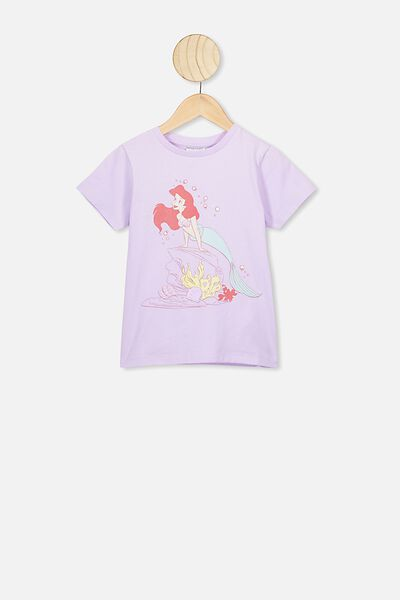 Lux Short Sleeve Tee, LCN DIS VINTAGE LILAC/THE LITTLE MERMAID/MAX