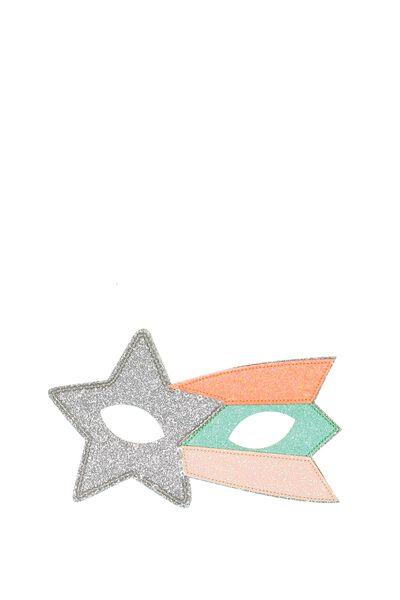 Glitzy Fun Mask, SILVERY SHOOTING STAR