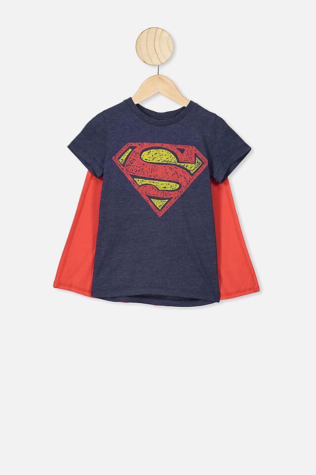 Short Sleeve License Cape Tee, LCN WB SUPERMAN/INDIAN INK