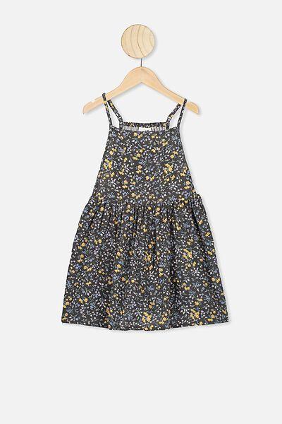 Nicolette Sleeveless Dress, PHANTOM/FLORAL FIELDS
