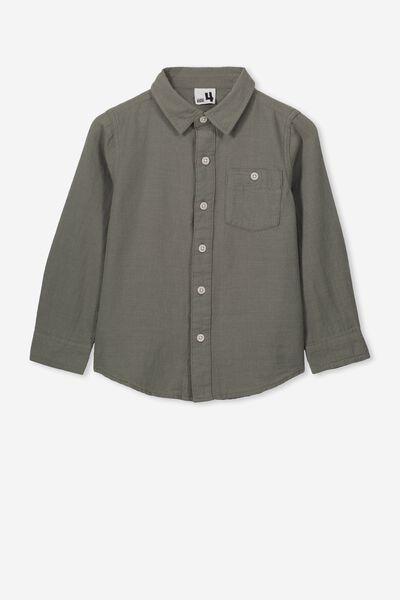 Fairfax Long Sleeve Shirt, KHAKI/UTILITY
