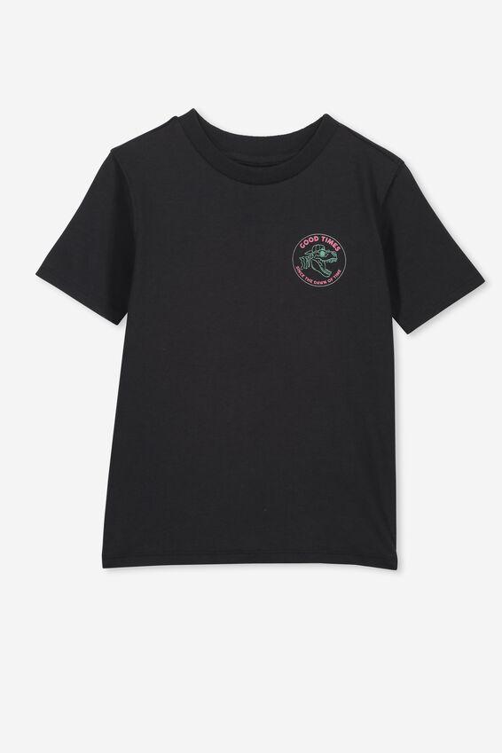 Skater Short Sleeve Tee, PHANTOM/GOOD TIMES