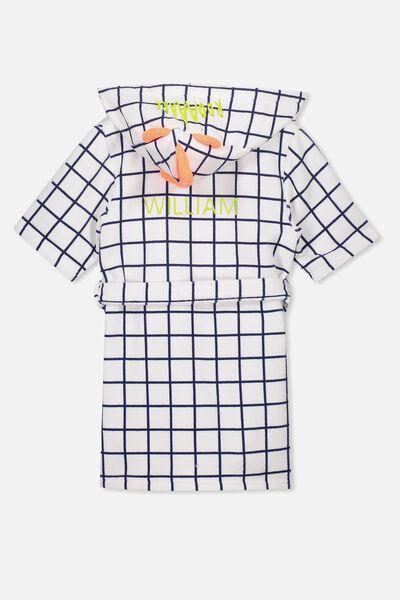 Boys Hooded Terry Gown Personalised, ROAR DINO PERSONALISED