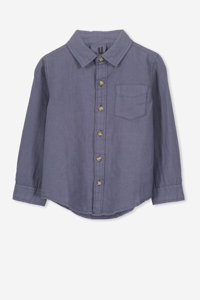 Noah Long Sleeve Shirt, VINTAGE NAVY