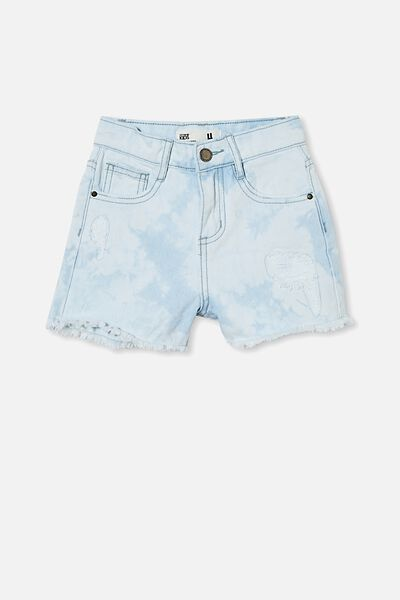 Sunny Denim Short, BLEACH WASH TIE DYE