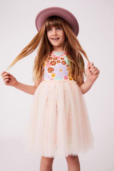 Sage & Clare Ivy Dress, LCN SAG FLORAL/PEACH TANG
