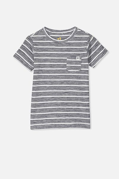 Core Short Sleeve Tee, INDIAN INK/WHITE YDS