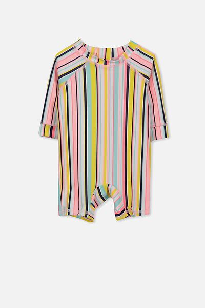 Harris One Piece, WHITE/RAINBOW STRIPE