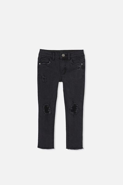 Drea Skinny Jean, BLACK WASH/RIPS