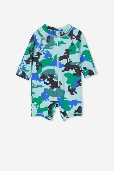 Harris One Piece, POOL BLUE/CAMO