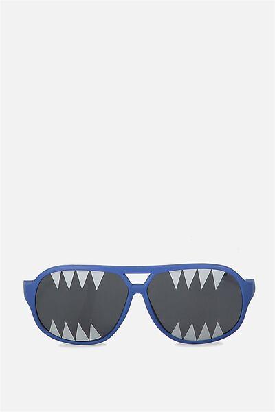 Kids Novelty Glasses, NAVY SHARK PRINT