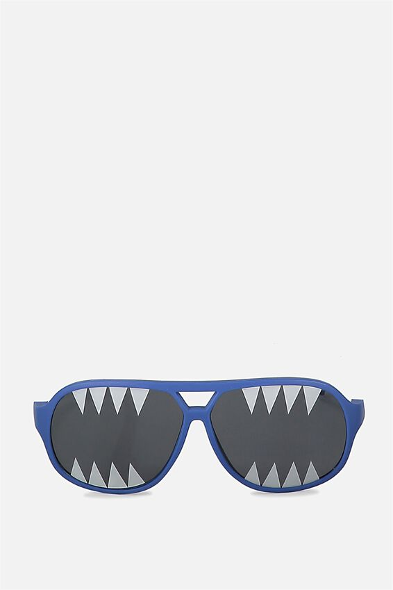 Kids Novelty Glasses, NAVY SHARK PRINT