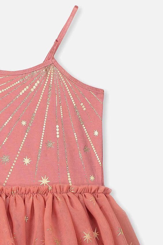 Iris Tulle Dress, RUSTY BLUSH/STARS