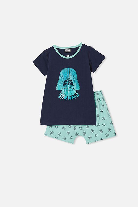 Hudson Short Sleeve Pyjama Set, MINT BREEZE STAR WARS