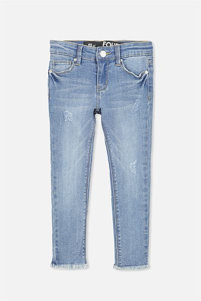 Didi Rip & Repair Jean, LIGHT BLUE WASH
