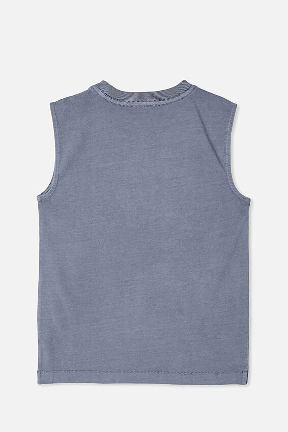 Otis Muscle Tank Wash, STEEL GARMENT DYE