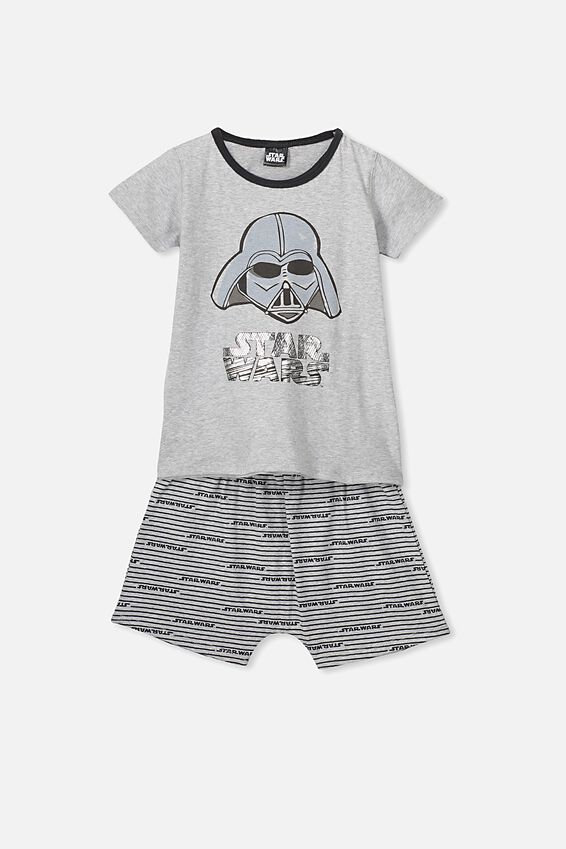 Hudson Ss Pj Set, LCN LU STAR WARS DARTH VADER/GREY