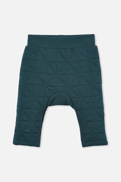 Emerson Quilted Trackpant, PETROL TEAL