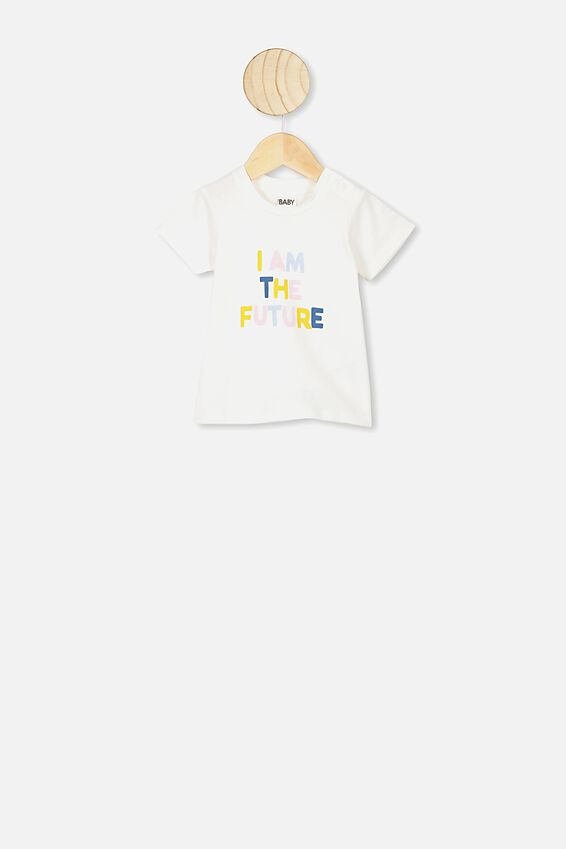 Jamie Short Sleeve Tee, VANILLA/I AM THE FUTURE NTH