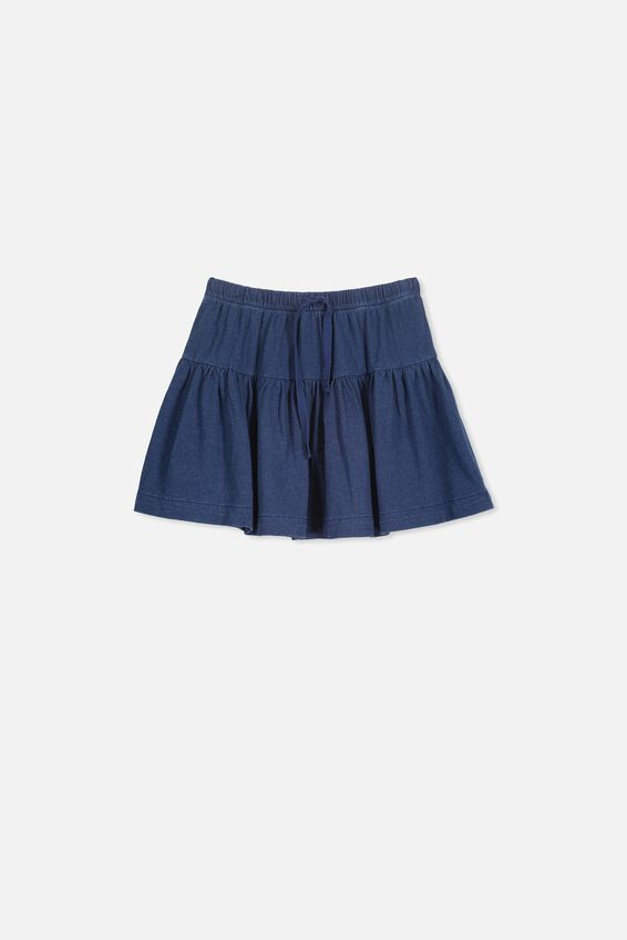 Cilla Skirt, INDIGO WASH