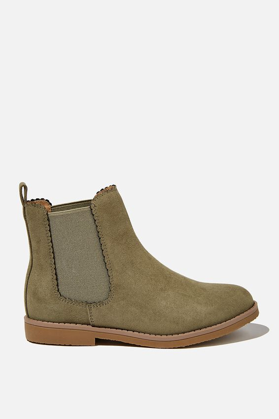 Scallop Gusset Boot, SWAG GREEN
