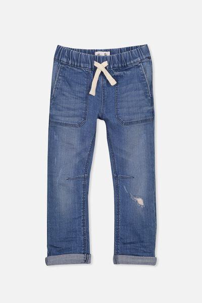 Skate Pant, NEPTUNE BLUE WASH DENIM