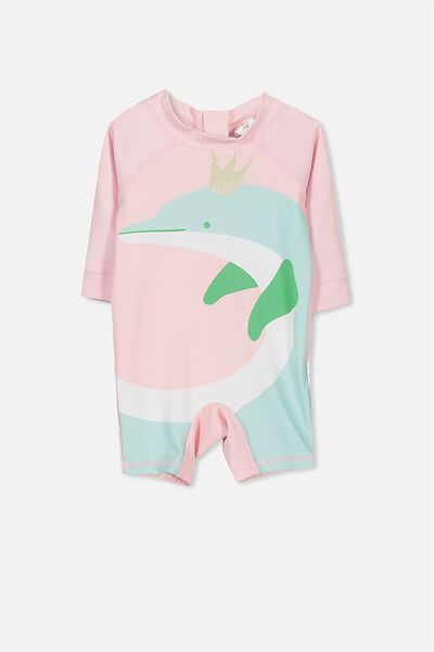 Harris One Piece, PALE PINK/DOLPHIN