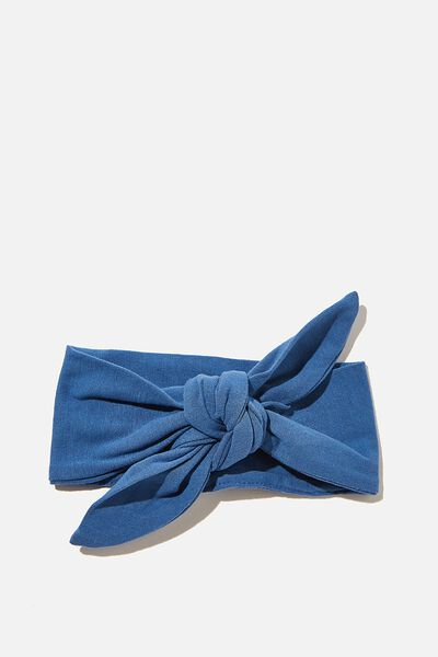 The Tie Headband, PETTY BLUE