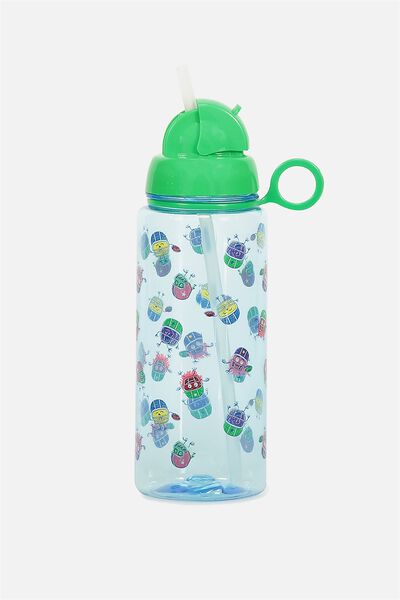 Spring Drink Bottle, BLUE MONSTERS