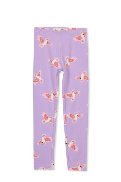 Huggie Tights, LILAC BREEZE/COCKATOOS