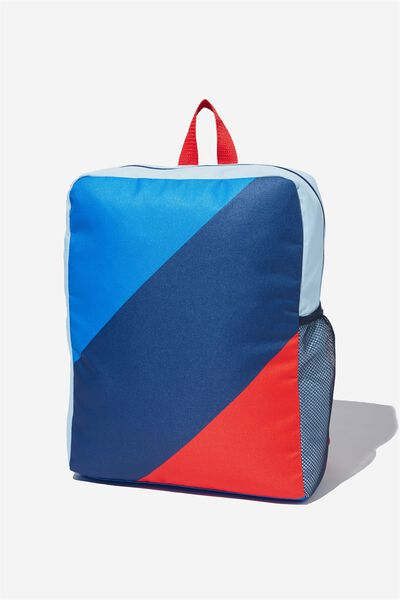 Back To School Backpack, BLUE/COLOUR BLOCK