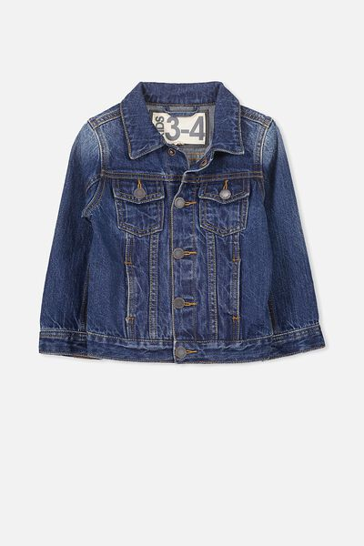 Harvey Denim Jacket, DARK BLUE