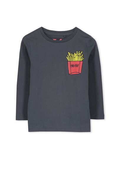Tom Ls Tee, GRAPHITE/FRIES
