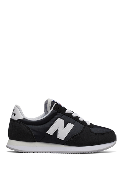 220 Youth Lace Up New Balance 12F7, KL220BWY BLACK WHITE