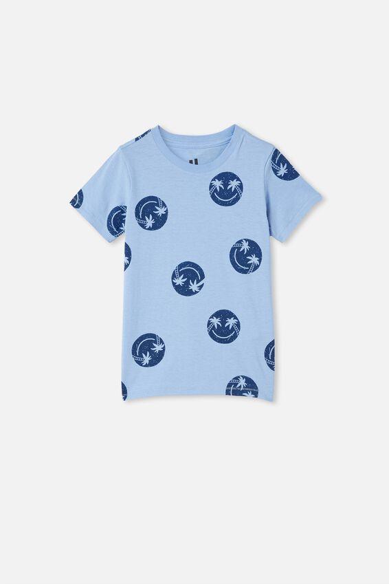 Max Short Sleeve Tee, DUSK BLUE / SMILE YDG