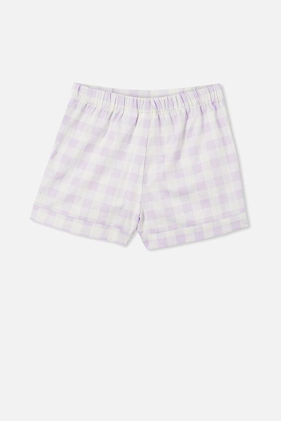 Estelle Cropped Pyjama Set, GINGHAM VINTAGE LILAC