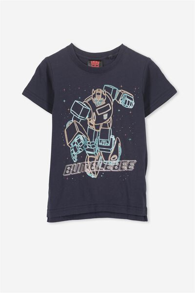 Short Sleeve License Tee, NAVY/BUMBLEBEE