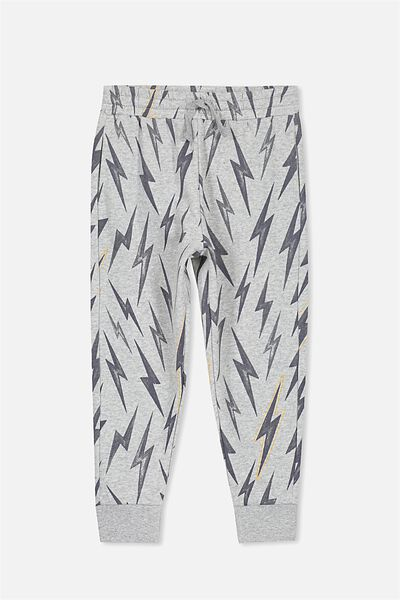 Lewis Trackpant, LIGHT GREY MARLE/BOLTS