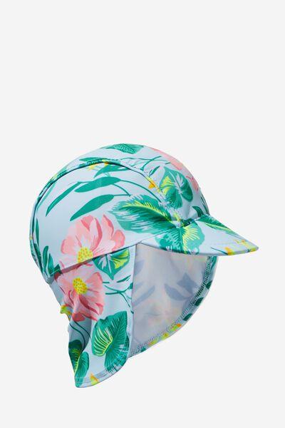Newborn Sonny Swim Hat, POOL FLORAL
