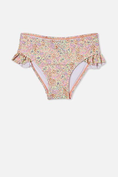 Pippa Ruffle Bikini Bottom, MUSK MELON/VINTAGE FLORAL