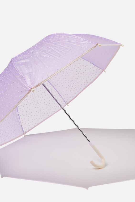 Kids Cloudburst Umbrella, PALE VIOLET PUFF DAISY