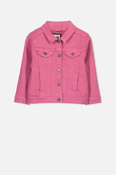 Daisy Denim Jacket, CARMINE PINK