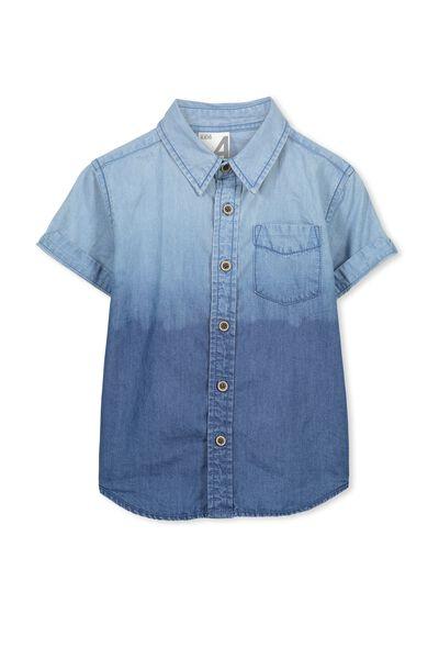 Jackson S/Slv Shirt, CHAMBRAY DIP DYE