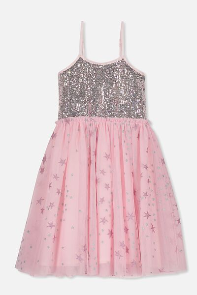 Iris Tulle Dress, BLOSSOM/SHINE BRIGHTLY