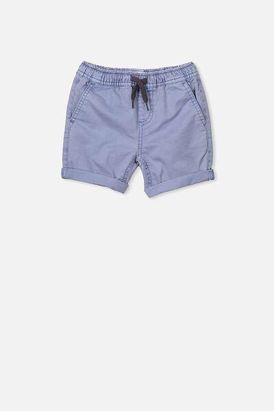 Finn Woven Short, DUSTY BLUE