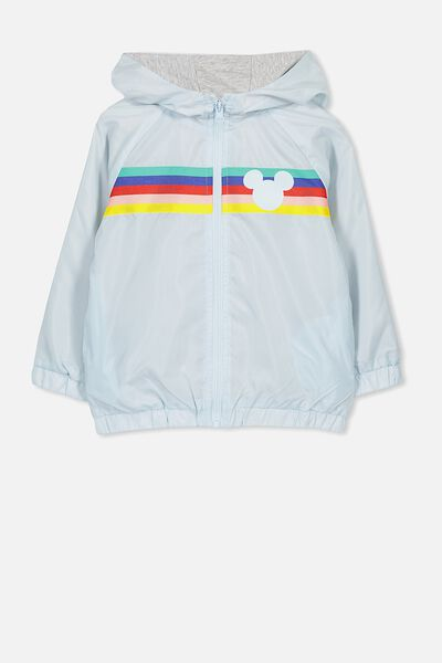 Lux Spray Jacket, RAINBOW STRIPE MICKEY/YOLO BLUE