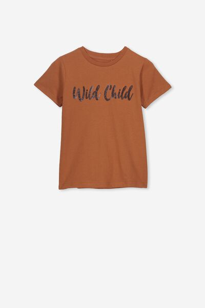 Stevie Ss Embellished Tee, AMBER BROWN/WILD CHILD/MAX