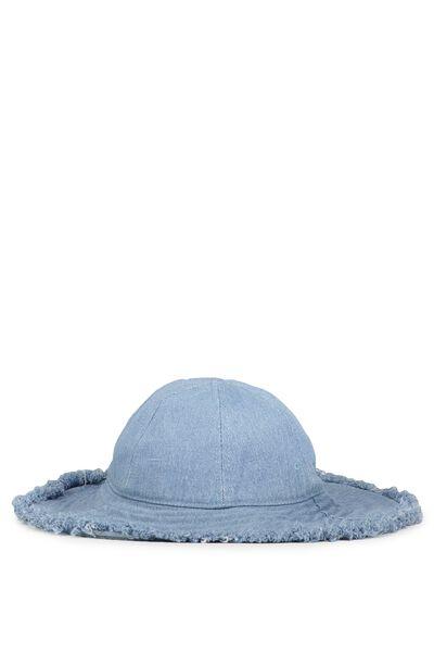 Chambray Floppy Hat, CHAMBRAY