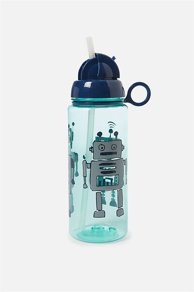 Spring Drink Bottle, GREEN ROBOT