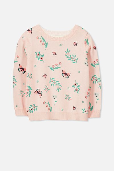 Milly Jumper, SHELL PEACH/LADYBUG FLORAL